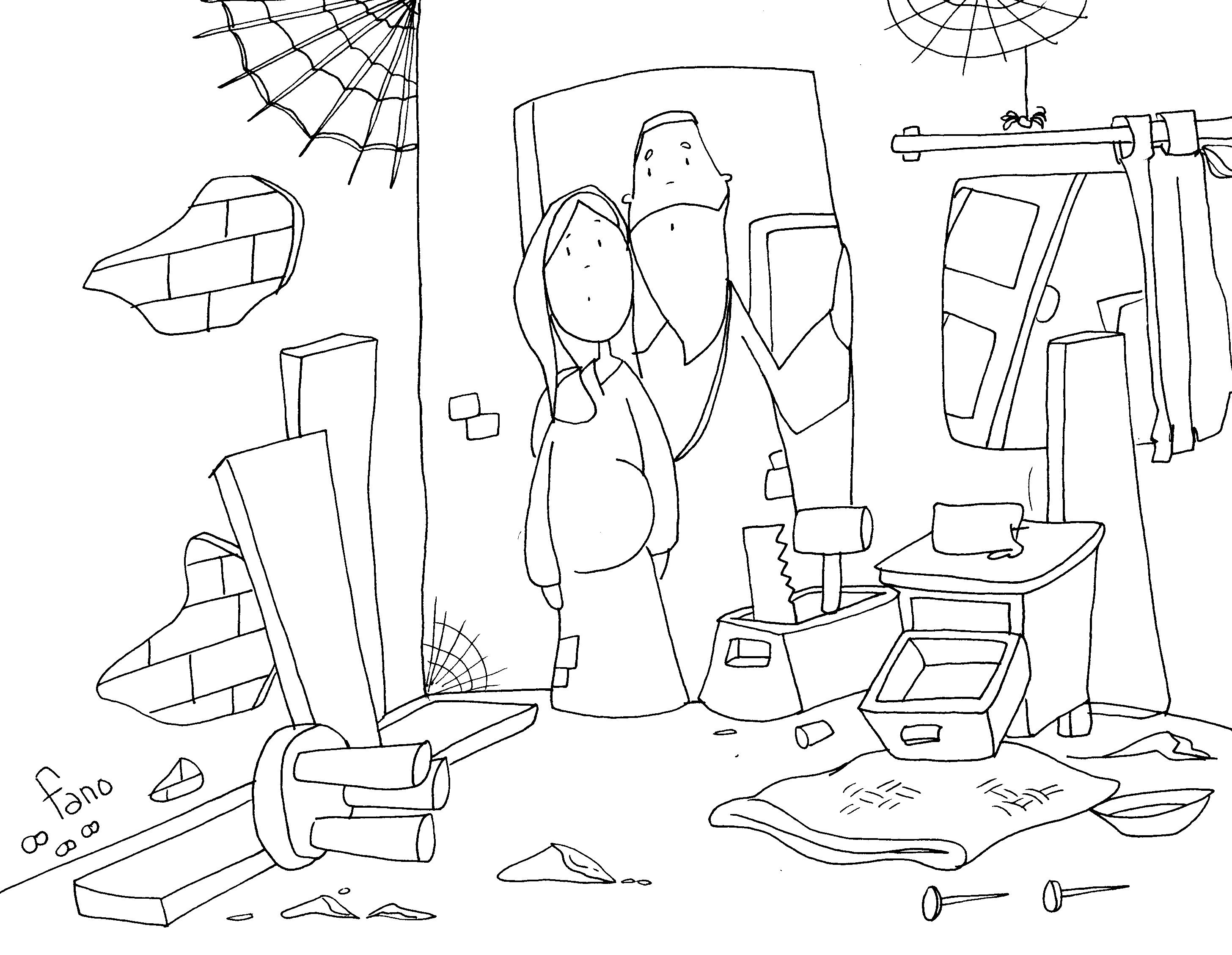 Material catequesis adviento 2010 odres nuevos - Habitacion para colorear ...