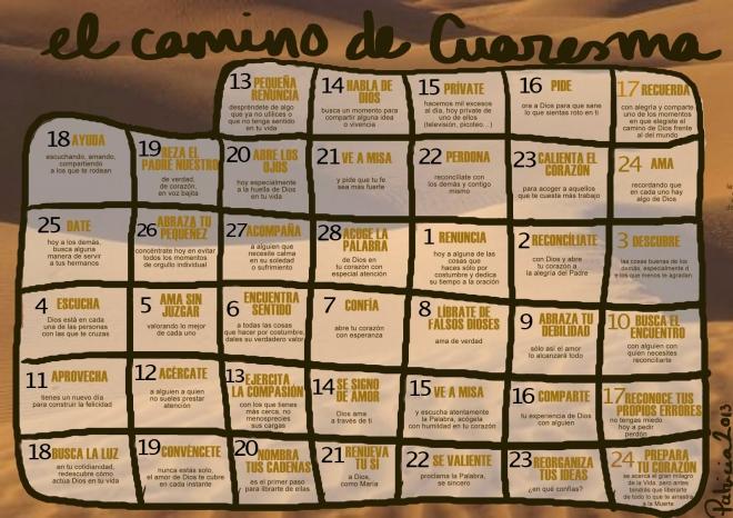 Calendario de Cuaresma 2013