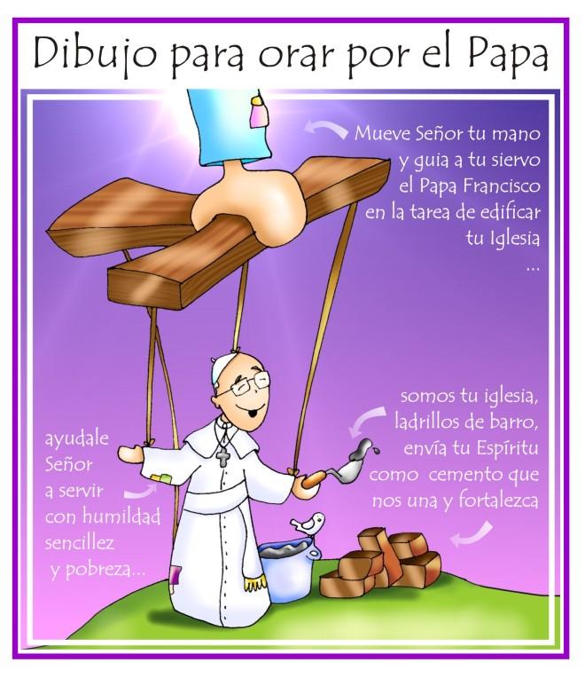 dibujo_oración_por_el_PAPA
