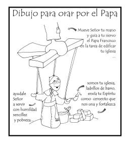 Un Dibujo De Patxi Para Orar Por El Papa Para Colorear