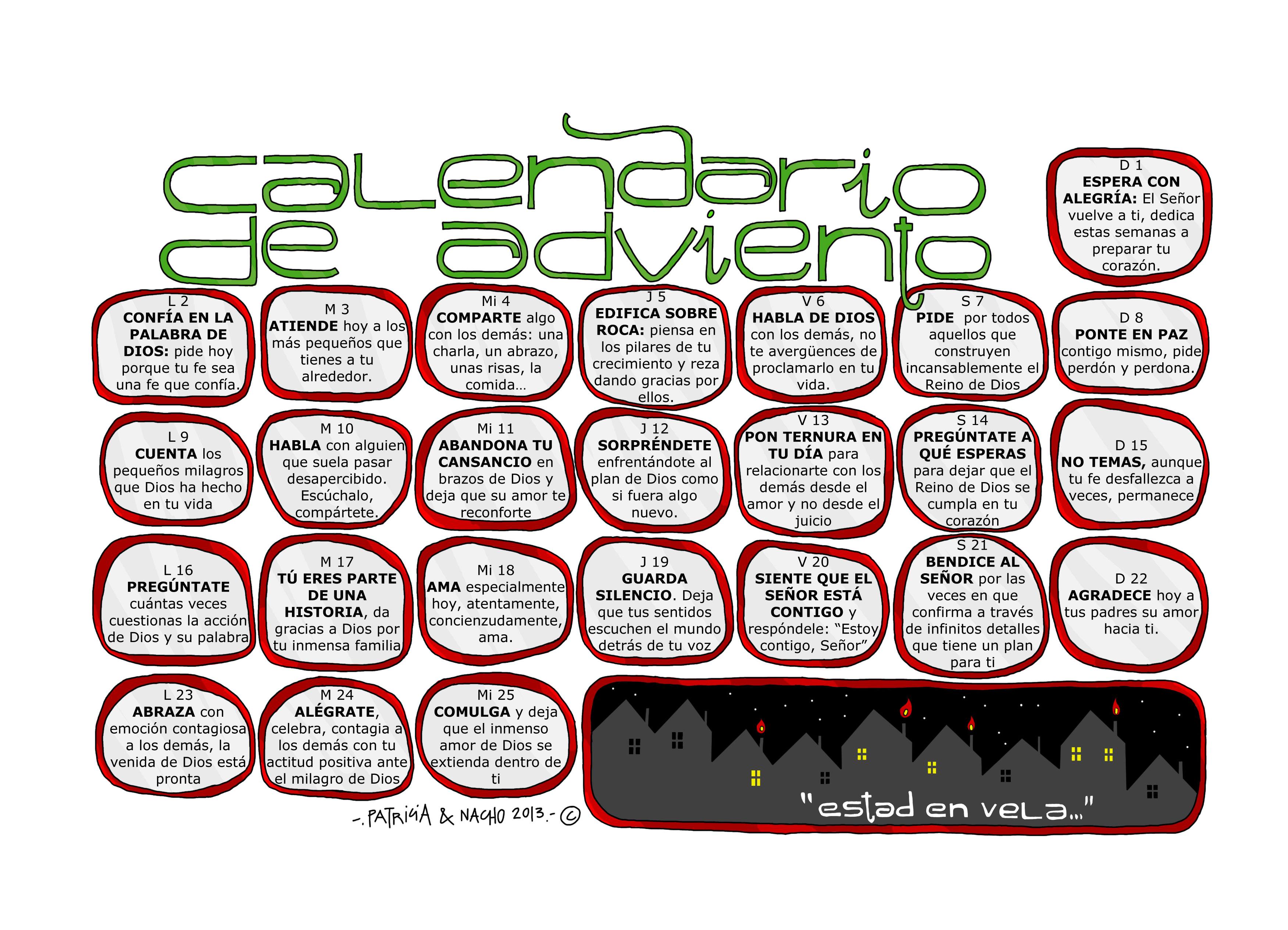 Calendario adviento 2013 color odres nuveos for Calendario adviento 2017