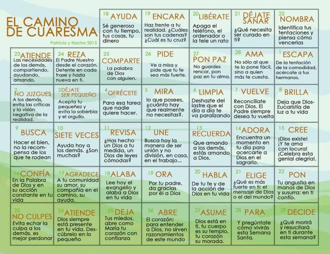 Calendario Cuaresma 2015 - Patricia Rojo
