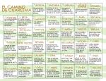 Calendario Cuaresma Fondo Blanco