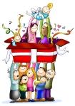 navidad-familia-regalo-color